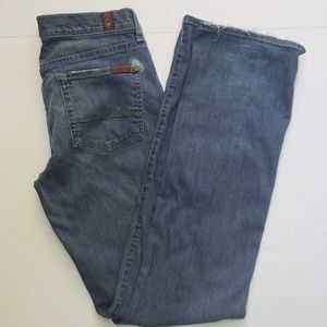 7FAM Boycut Jeans-Medium Wash